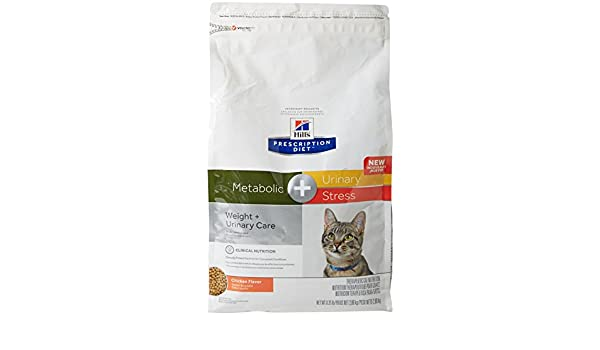 Amazon.com : HillS Prescription Diet Metabolic + Urinary Stress Feline Cat Food 6.35 Lb (2.88 Kg) Bag, Small : Pet Supplies