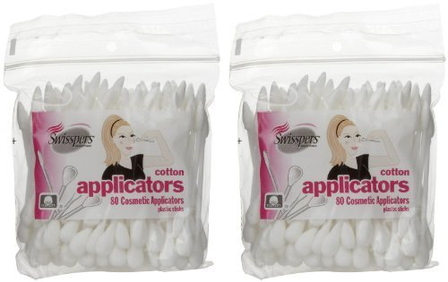 Swisspers Premium Cosmetic Applicators  80 ct  2 pk