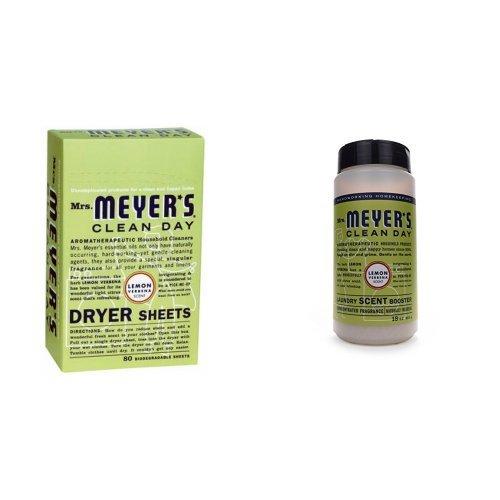 Lemon Verbena Scent - Mrs. Meyer's Laundry Scent Booster + Dryer Sheets - Lemon Verbena