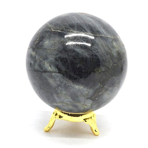 LG LABRADORITE SPHERE 2.5 to 3 INCH SIZE (64-75mm) Crystal Orb Ball Healing Stone