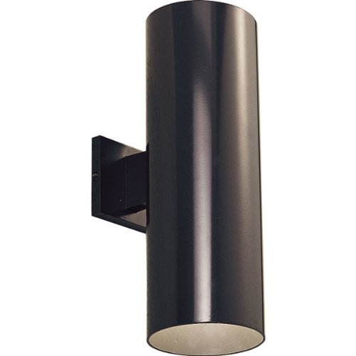 Bronze Fluorescent Outdoor Wall - Progress Lighting P5642-20 6-Inch Up/Down Cylinder with Heavy Duty Aluminum Construction and Die Cast Wall Bracket, Antique Bronze