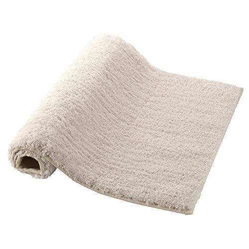 "Homever Microfbier Bath Mat Non-Slip Latex Backing Small Luxury Bath Rug with 17""x24"" Soft Bathroom Floor Mats Water Absorbent (Cream)"
