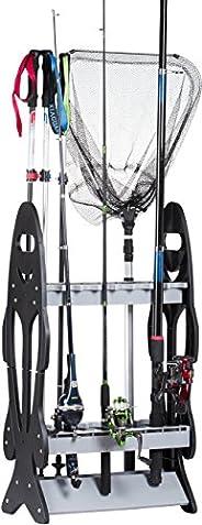 Wealers 16 Fishing Rod Holder Storage Rack Fishing Pole Stand Garage Organizer Space Saver, Designed to Holds