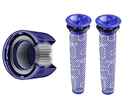 [Washable] Replacement filters for Dyson V7, V8 vacuums, Pre-Filter, Post Assembly HEPA filters