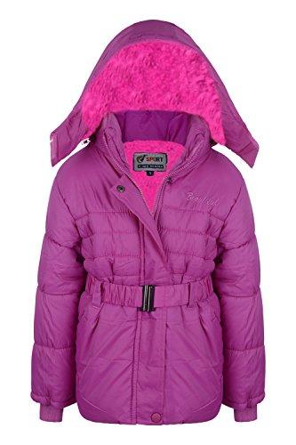 de de la escuela 13 Escudo de rosa os chaqueta impermeable 5 9 a Edad ni la 502 acolchada 3 as 8 10 6 las wfn80qt4x8
