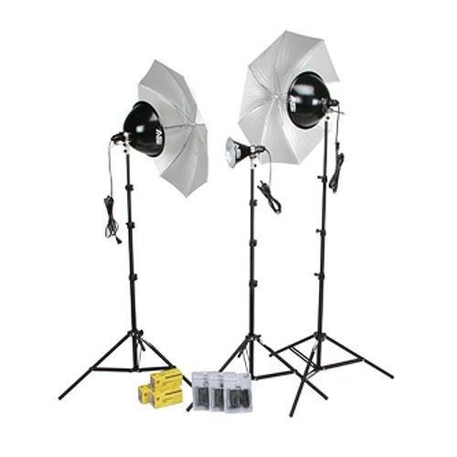 Smith Victor KT800 3-Light 1250-Watt Thrifty Photoflood Kit with Umbrellas ()