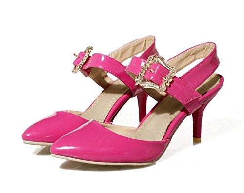 Aisun Womens Trendy Formal Ankle Strap Belt Buckle Dress Sandals Red 4c1bx