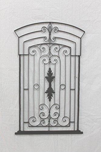 """Pietra Mediterranean 30"""" Garden Gate Wall Grille"""