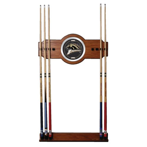 NCAA Western Michigan University Billiard Cue Rack with Mirror by Trademark Gameroom