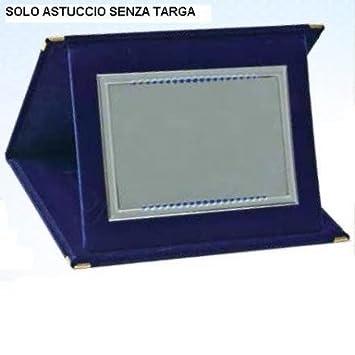 Estuche Folder terciopelo cm 23 x 17 para placa matrícula Esclusa Adm