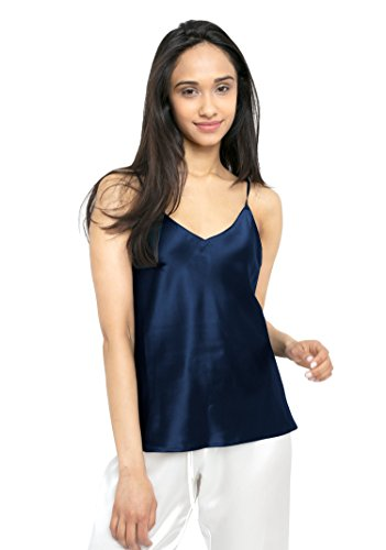 d2c24eafa MYK 21 Momme 100% Pure Silk Camisole with Adjustable Strap for Women