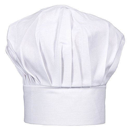 CHEFSKIN BIG & Tall 2X XXL Mushroom Chef Hat, Fully Adjustable (WHITE) by CHEFSKIN