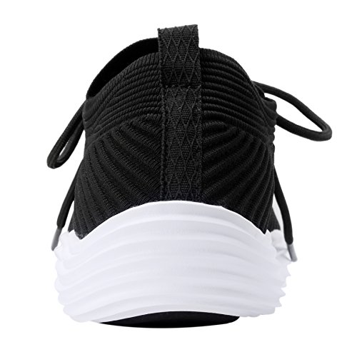 Mens Black Sneakers Shoes Walking Running Lightweight Sport Knitted UJoowalk Womens OwzqOd