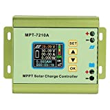 Akozon Solar Charge Controller, MPT-7210A Aluminum Alloy LCD Display MPPT Solar Panel Charge Controller for Lithium Battery