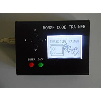 Morse Code Trainer, cjc LCD Telegraph Short Wave Radio Station Telegraphy CW Auto Key Radio Transmitter - Full Set: GPS & Navigation
