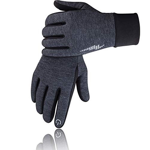 SIMARI Winter Gloves for Men Women,Keep Warm Touch Screen Windproof Cold Weather Gloves for Cycling Running SMRG102(Grey L)