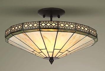 tiffany flush ceiling lights uk. mission tiffany semi flush ceiling light lights uk