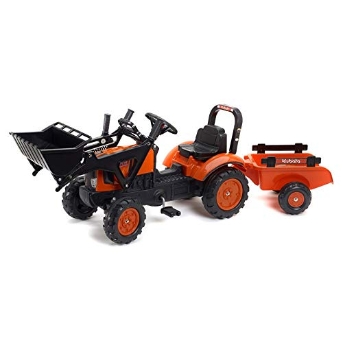 Universal Hobbies Kubota M7171 Pedal Tractor with Loader and Trailer by Falk