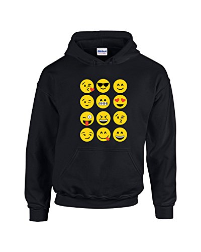 Falcon's Shop Hoodies For Women Show Your Mood On Your With Emojis Pullover Hooded - Emoji Falcon