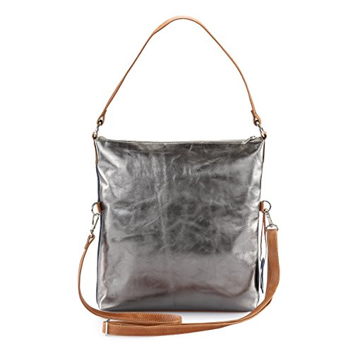 Hydestyle Lb31 - Backpack Gray Leather Bag For Women