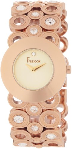 Freelook Women's 'Linea Tempo' Quartz Stainless Steel Dress Watch, Color:Gold-Toned (Model: HA1004RG-5)