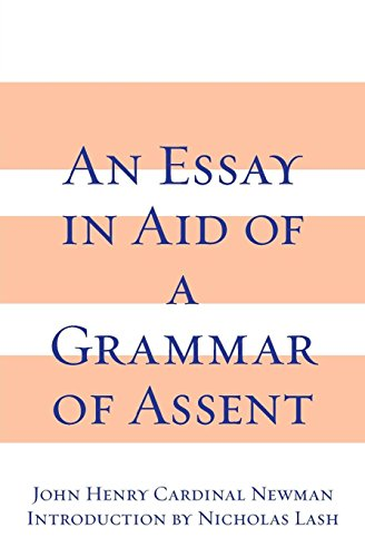 An Essay in Aid of a Grammar of Assent by University of Notre Dame Press