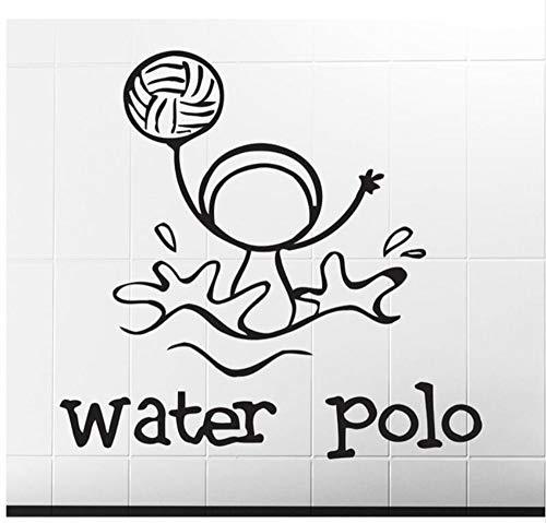 wsqyf Uno De Los Deportes Imagen De Polo Acuático Pegatinas De Pared Calcomanías De Vinilo A Prueba De Agua Sala De Niños...