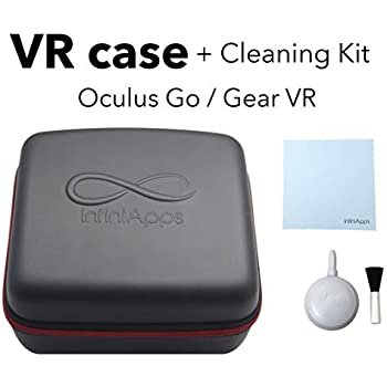 Oculus GO and Samsung Gear VR Life Case Semi-Hard Compact Travel Storage Carrying Case Cover Bag by InfiniApps: Compatible with ALL generations of Gear VR