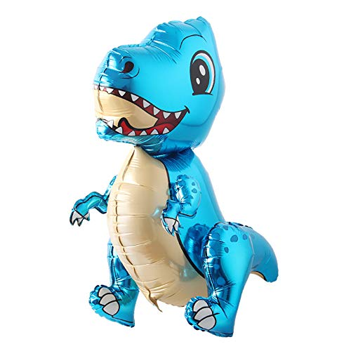 Self Standing Dinosaur Tyrannosaurus Animal Balloons for Birthday Party Baby Shower Decoration Kit Inflatable Party Supplies Decorations Gift Kids and Adults (Blue) ()