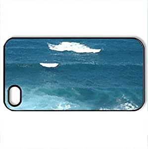 Puerto Rico Fort San Cristobal - Case Cover for iPhone 4 and 4s (Watercolor style, Black) by supermalls