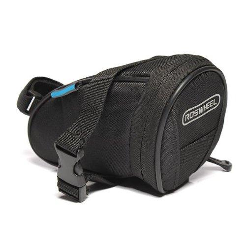 ROSWHEEL Cycling Bicycle Bike Saddle Bag Rear Tail Back Seat Pouch Waterproof black