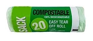 Compostable Caddy Sack desperdicio de alimentos bolsas de basura 7L biodegradables de basura de Bio basura biodegradables Kitchen Compost