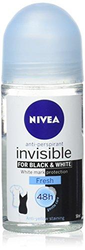 Nivea 50ml Female Black & White Pure Invisible Roll-On