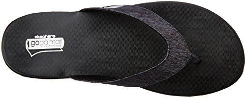 Skechers Women's on The Go Flow Heels Sandals Black (Bbk) qNRWrCG0