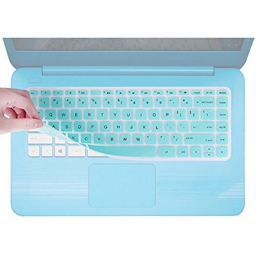 Keyboard Cover Skin for HP 14-ac159nr 14-al062nr 14-an010nr 14-an013nr 14-an080nr 14-ax010nr / HP 14 Inch Stream Laptop 14-AX040WM 14-ax010nr14-ax020nr 14-ax020wm 14-ax050nr / HP 14-ab/ad -Hot Blue