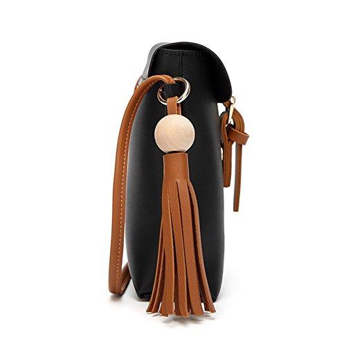 VogueZone009 Femme Boucle Fête Une Escapade Le Temps d'un Cross-Body-Sacs à Main Noir BggZAwR0
