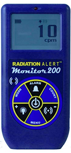 Radiation Alert Monitor200 Radiation Detector, for Alpha Beta Gamma and X-Rays, Small Window GM Detector, Protective Boot, Blue