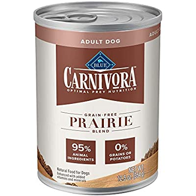 Blue Buffalo Blue Carnivora Prairie Blend Optimal Prey Nutrition Grain Free Adult Wet Dog Food