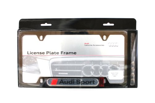 Genuine Audi Accessories 8K0071801 Sport Black Powder Coat License Plate ()