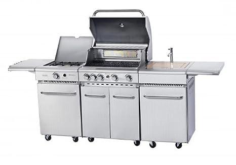 Barbecue a gas, Cucina da esterno in acciaio inox CKW CUCINA ...