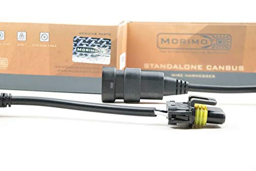 Morimoto CANBUS Standalone Wiring Harness (H7) - Two Error-Cancelling CANBUS Modules, For Use with Any 35W-50W HID Ballast, Fits H7 Style Inputs