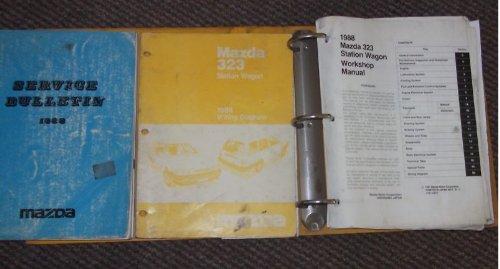 1988 Mazda 323 Station Wagon Service Repair Manual Set (binder style service manual, wiring diagrams manual, and the service bulletins manual.)