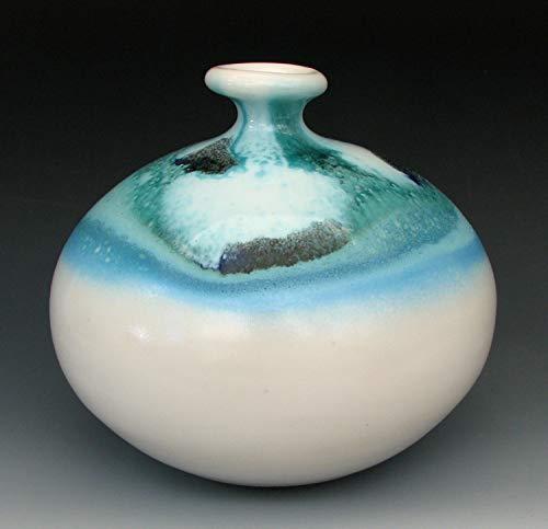 - ROUND VASE #1 - Ceramic Vase - Stoneware Vase - Pottery Vase - Ceramic Bottle - Bud Vase - Weed Pot - Ceramic Vases - Blue Vase