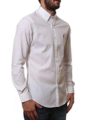 Ralph Lauren Homme A04WERSMC0109A1000 Blanc Coton Chemise
