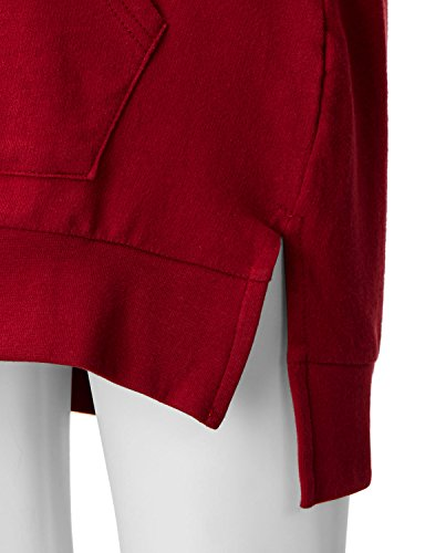 Regna X Love Coated Womens Long Sleeve Raglan Crewneck Hoodie Dress Red S by Regna X (Image #6)