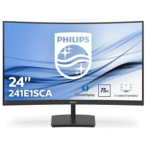 chollos oferta descuentos barato Philips 241E1SCA 00 Monitor Curvo de 23 6 FHD 1920X1080 Pixeles 4 ms Altavoces FreeSync AdptiveSync FlickerFree HDMI