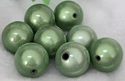 1 Strand Green Acrylic 10mm Japanese Round MIRACLE Beads *