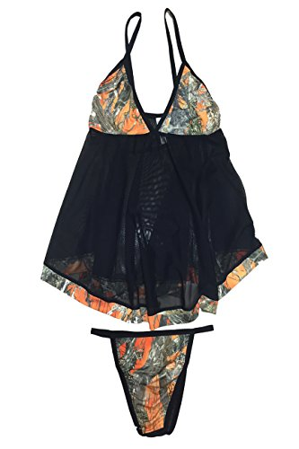 SHORE TRENDZ True Timber Camo Baby Doll Lingerie ()
