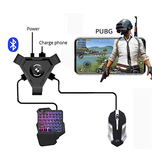 Leoie PUBG Mobile Gamepad Controller Gaming Keyboard Mouse Converter for Android Phone to PC Bluetooth Adapter Keyboard and Mouse