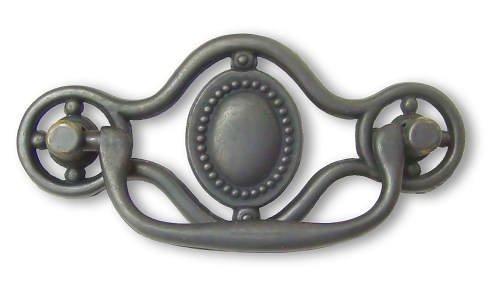 (Dark Antique Brass Drawer Bail Pull Handle Centers: 3